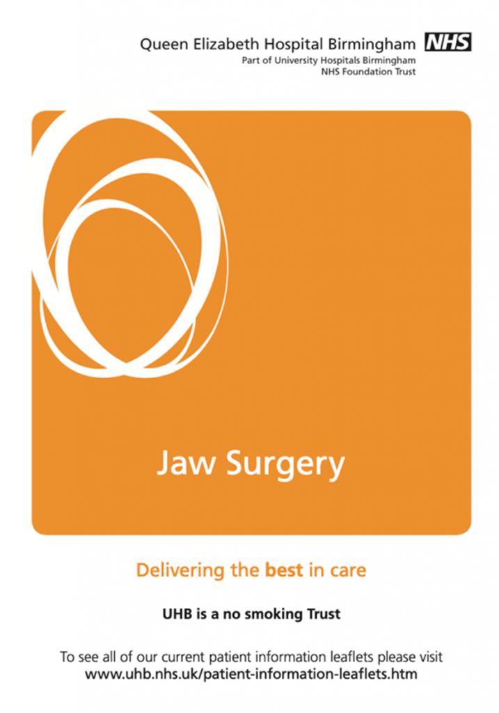 Jaw surgery leaflet